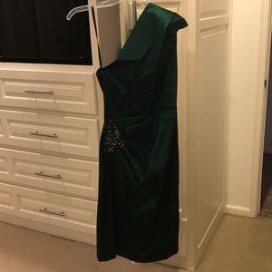 Xscape green cocktail dress